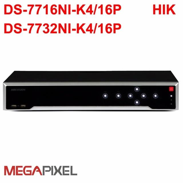 Video Recorder NVR Embedded Plug Play 4K DVR hikvision PoE DS-7716-K4/
