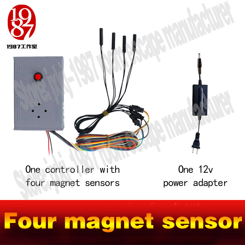 Image 5 - chamber room escape Real life escape game prop hot put magnet sensor in right order to release lock  new run away chamber room-in Alarm System Kits from Security & Protection