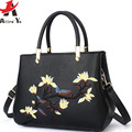 Attra-Yo women tote luxury women leather handbag fmaous brands flower messenger bags fashion bolsas shoulder bag purse  LM4374ay