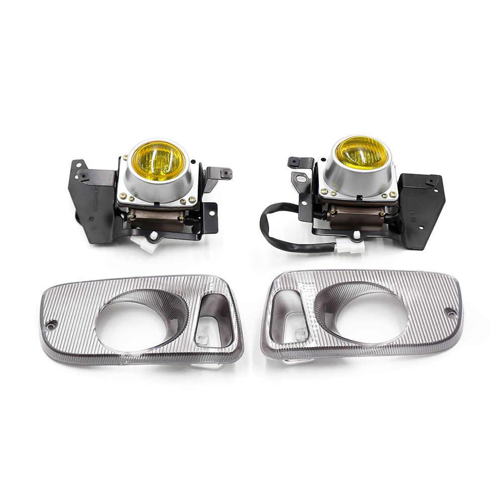 مصابيح الضباب الصفراء/الشفافة لهوندا سيفيك 92-95 2/3DR EG Car H3 Led ضوء الضباب 12 فولت لمبة المصد الأمامي مصابيح الضباب مجموعة كاملة