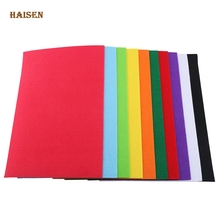 Haisen Non Woven Fabric 2mm Thickness Polyester Felt Of Home Decoration Pattern For Sewing Doll Crafts Mix 10pcs Bundle,30x20cm