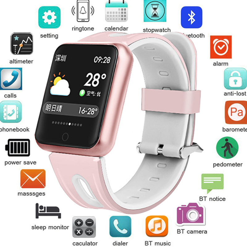 Fitness Bracelet Watch P68 ip68 Waterproof For Apple Watch Xiaomi IOS Android With Heart Rate Monitor Smart Band PK Q10 Z60 EX18Fitness Bracelet Watch P68 ip68 Waterproof For Apple Watch Xiaomi IOS Android With Heart Rate Monitor Smart Band PK Q10 Z60 EX18