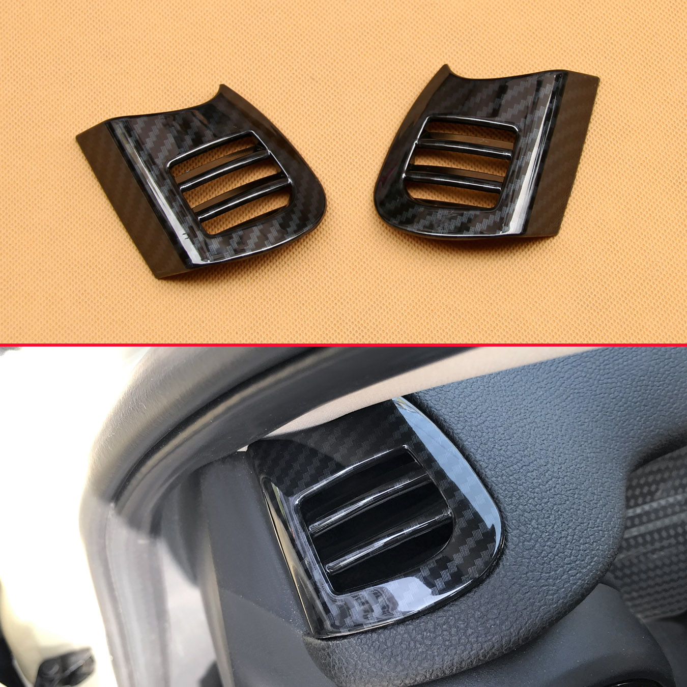 goede kopen dash air vent cover voor mini cooper f55 f56 f57 2015 2018 interieur dashboard trims accessoires goedkoop