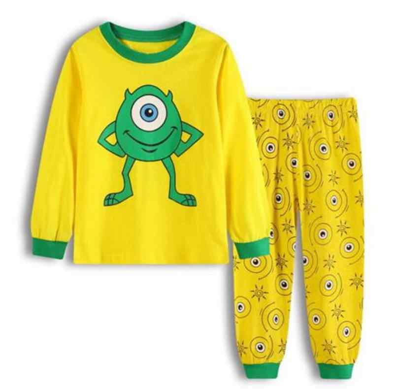 Nuevo conjunto de pijamas de ropa interior de niño de otoño e invierno 100% pijamas de algodón de manga larga pijamas traje de pijama para niños LP015