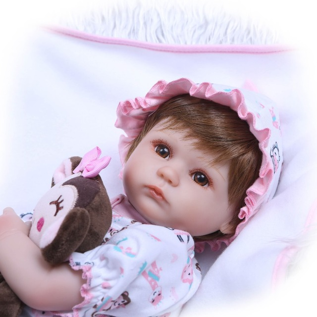 Handmade Dolls Reborn Silicone Realistic Bonecas Baby Girl Toys 6