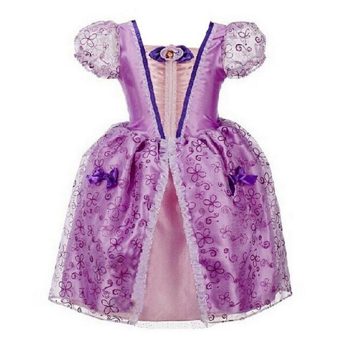 Cinderella Girls Dress Age 2-10 Years Princess Snow White Girls Dresses Rapunzel Aurora Children Cosplay Costume Kids Clothing бензогенератор aurora age 2500