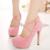 2016 de Europa Señoras Atractivas de ultra plataforma tacones altos tacones delgados boca baja punta redonda de Las Mujeres Zapatos de Fiesta de Tacones Altos