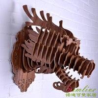 DIY деревянная голова дракона для украшения стены, китайский дракон, дерева голова животного для украшения дома, деревянный корабль, китайск