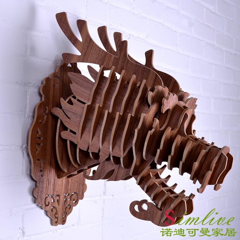 Ratings Feedback For Gavan Wood Painting Decorating: Aliexpress.com : Buy DIY Wooden Dragon Head For Wall