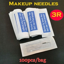 100PCS 3RL Professional Sterilization Permanent Individually Packed Permanent Makeup Needles For Eyebrow Lip 3R