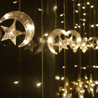 Moon Star Ice Led String Strip Light 138leds 250CM Length Fairy Lights Christmas Window Curtains Party