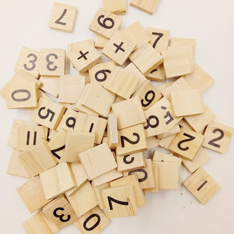 104 x wooden alphabet scrabble letter craft game letter kid