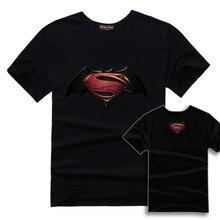 2016 brand clothing men's Tshirt movie Batman VS Superman summer men T-shirt short o-neck casual men T shirt