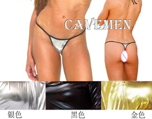 Golden silvery Leatherwear * 1955 *Ladies Thongs G-string Underwear Panties T-back Swimsuit Bikini Free Shipping