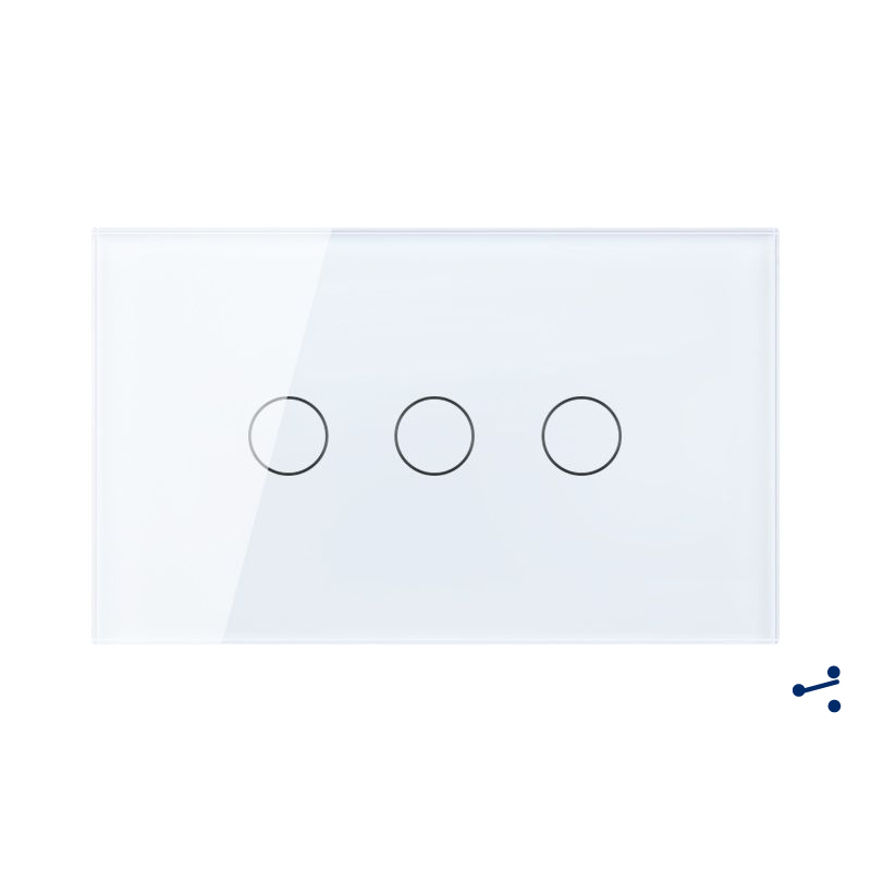 Free Shipping, US AU Standard Touch Switch, 3 Gang 2 Way Control, Crystal Glass Panel,Wall Light Switch,KT003DUS free shipping us au standard wall touch switch gold crystal glass panel 1 gang 1 way led indicator light led touch screen switch