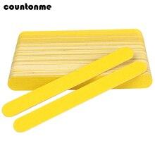 10 шт. желтая двухсторонняя деревянная пилка для ногтей 180/240 одноразовая наждачная бумага пилка для ногтей для гелевых ногтей de limas буферный инструмент для маникюра
