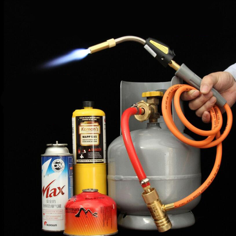 Mapp Torch Gas Welding Torch Self Ignition 1 5m 5ft  Hose Gas Brazing Burner Soldering Quenching BBQ Burner CE HVAC R Hand Torch