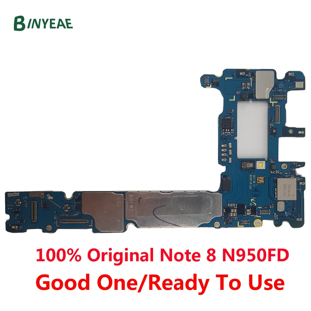BINYEAE Original unlocked For Samsung Galaxy Note 8 N950FD Motherboard for Galaxy Note8 N950FD Android 8
