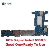 Оригинальная разблокированная материнская плата BINYEAE для samsung Galaxy Note 8 N950FD для Galaxy Note8 N950FD Android 8, материнская плата с двумя картами