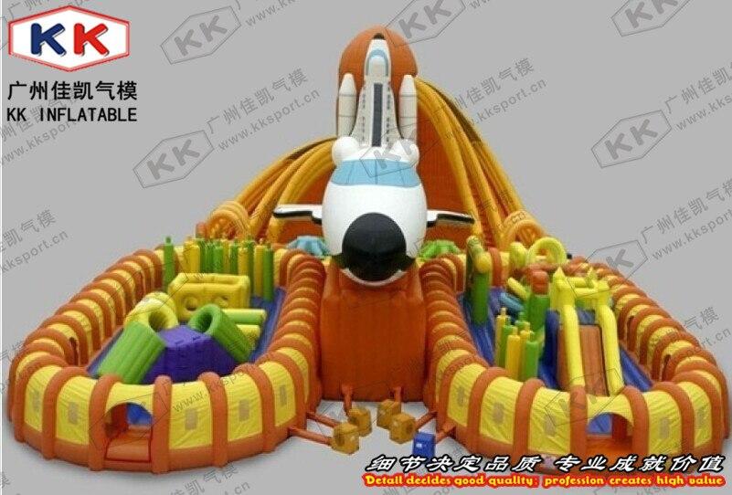 Коммерческие воздушные надувные плоскости fun city большие размеры надувные слайд препятствия игры