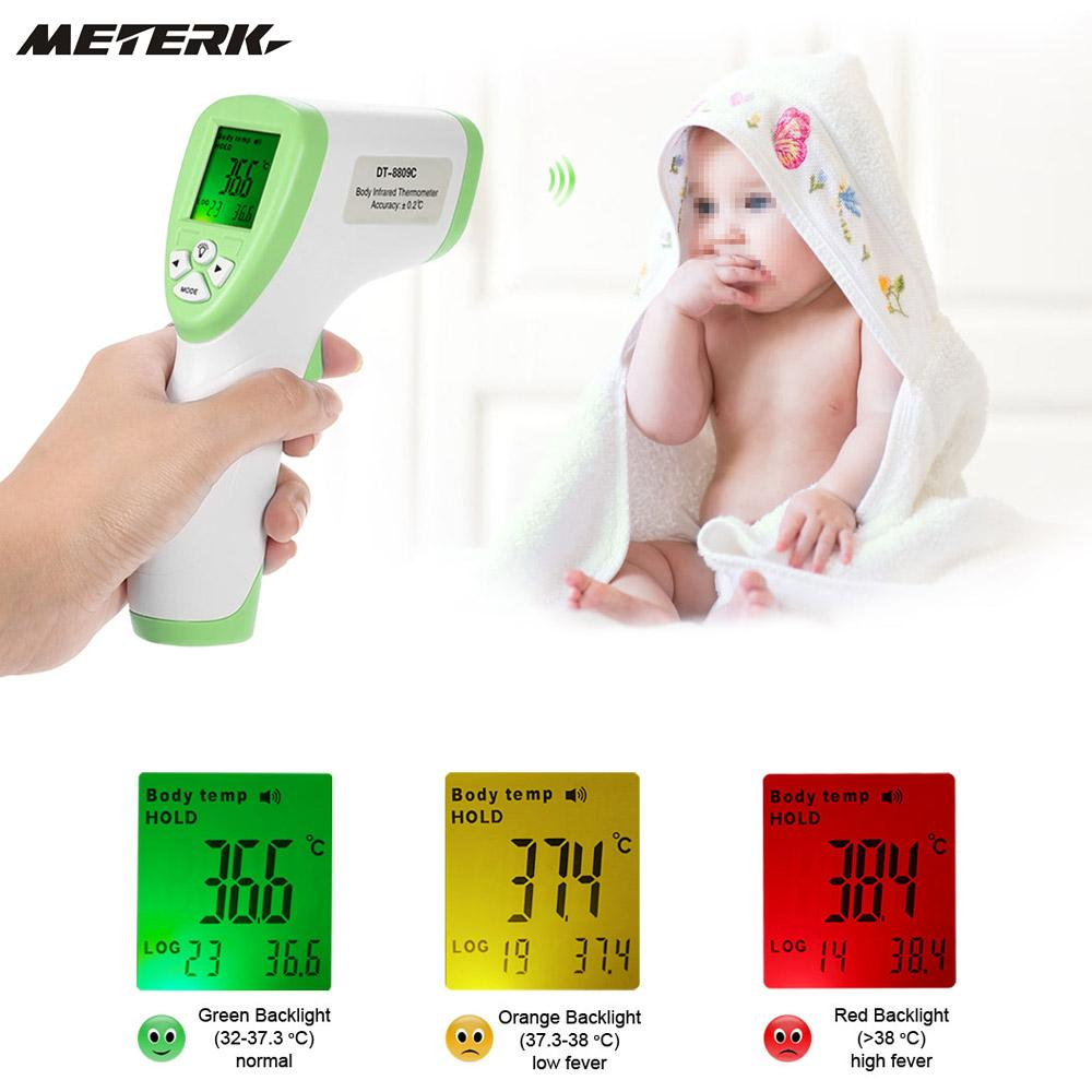 купить Digital Infrared Thermometer Multi-Function Non-contact Forehead Termometre Gun Body Temperature Measurement по цене 733.97 рублей