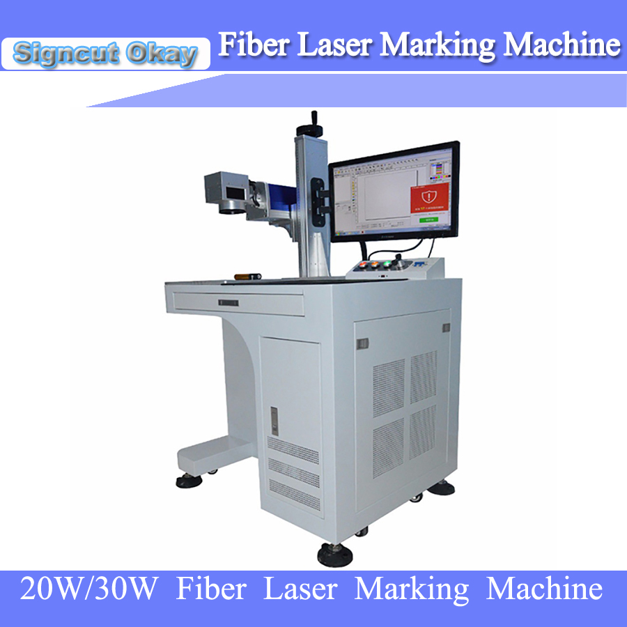 20W 30W Max/Raycus/IPG Laser Source Optional Fiber Laser Marking Machine For Metal With CE FDA