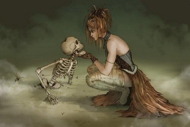 fantasy-art-artwork-girl-witch-death-ske
