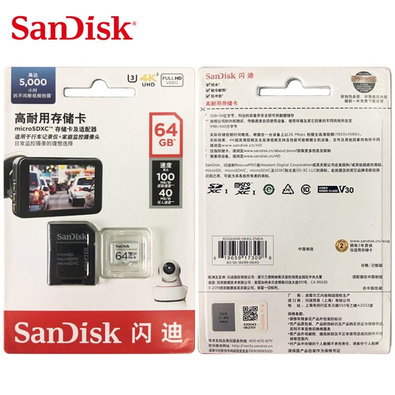 Image 5 - SanDisk Memory Card High Endurance Video Monitoring 32GB 64GB MicroSD Card SDHC/SDXC Class10 40MB/s TF Card for Video Monitoring-in Memory Cards from Computer & Office