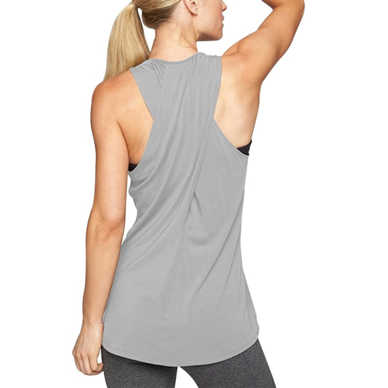 New Fashion 2018 Summer Top Women Cross Back Racerback Workout Vest Female Fitness Sleeveless Tank Tops For Women Plus Size