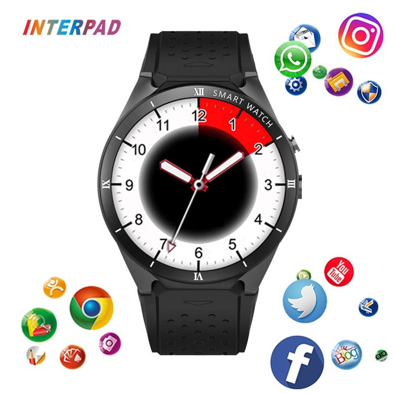 Interpad KW88 Pro Smart Watch 3g gps WI FI Android 7,0 Смарт часы 1 ГБ Оперативная память 16 Гб Встроенная память MTK6580 Поддержка Google погода для iOS и Android