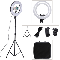 14 Inch Photo Studio lighting 40W 360PCS LED Ring Light 3200-5600k Photography Dimmable Ring Lamp With Tripod for Video,Makeup Photographic Lighting