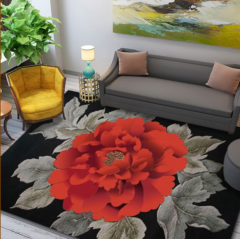 Grande taille laine grande taille tapis pour salon salon chambre classique Rose tapis tapis décoration tapis de sol tapis Floral