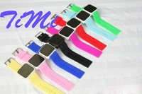 2012 New Jelly Stylish LED Digital Date Mix Color Sport Watch Silicone Watch Cool