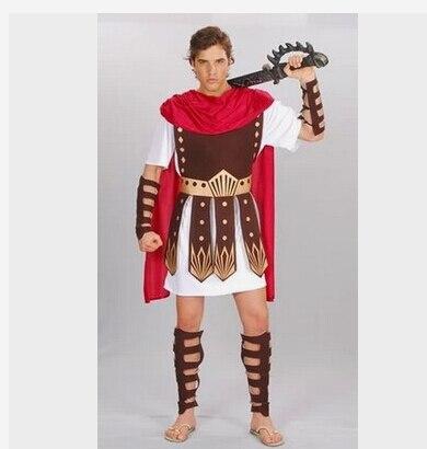 Ancient Roman Warrior Costumes Masquerade Party Men Costume Gladiators Knight Julius Caesar Adult Cosplay N1290