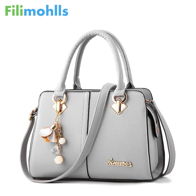Brand Women Hardware Ornaments Solid Totes Handbag High Quality Lady Party Purse Casual Crossbody Messenger Shoulder Bags S1224