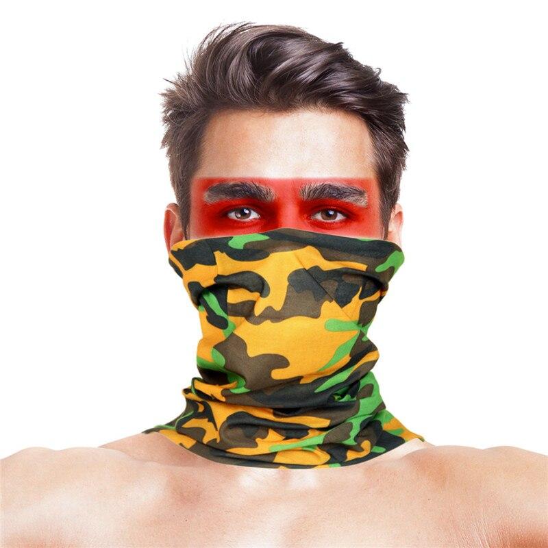 Камуфляжный шарф с высоким прыжком, бандана для мужчин и женщин, маска для лица, тактическая, для улицы, волшебный головной убор, для кемпинга, пешего туризма, шейный шарф - Цвет: 009