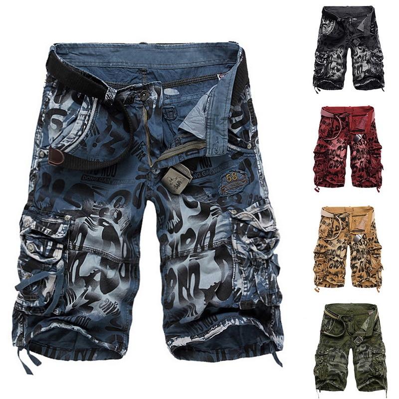MJARTORIA Clothing Cargo-Shorts Camo Men Summer Pure-Cotton Tactical Brand New Comfortable