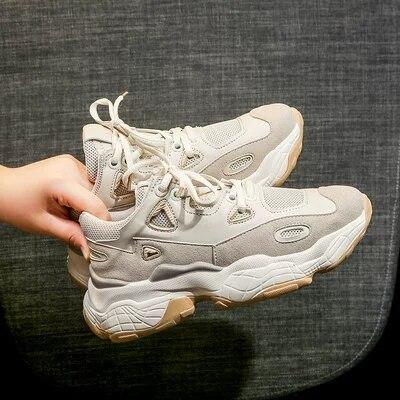 fcd50e2da067 Printemps Femmes 2019 Polyvalent forme Augmenter Chaussures De Sport Casual  3 Nouvelle Des 2 Épais 1 ...