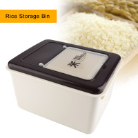 Portable Rice Storage Bin Food Storage Boxes Kitchen Plastic Cereal Grain Bean Food Storing Box Food Container Space saving