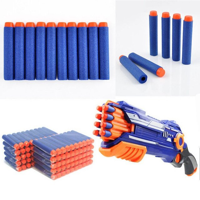 400pcs/set Soft Bullets For Nerf Darts Gun Toys Round Head Refill Sponge Children Toys Gun Bullets For NERF N-Strike Blasters