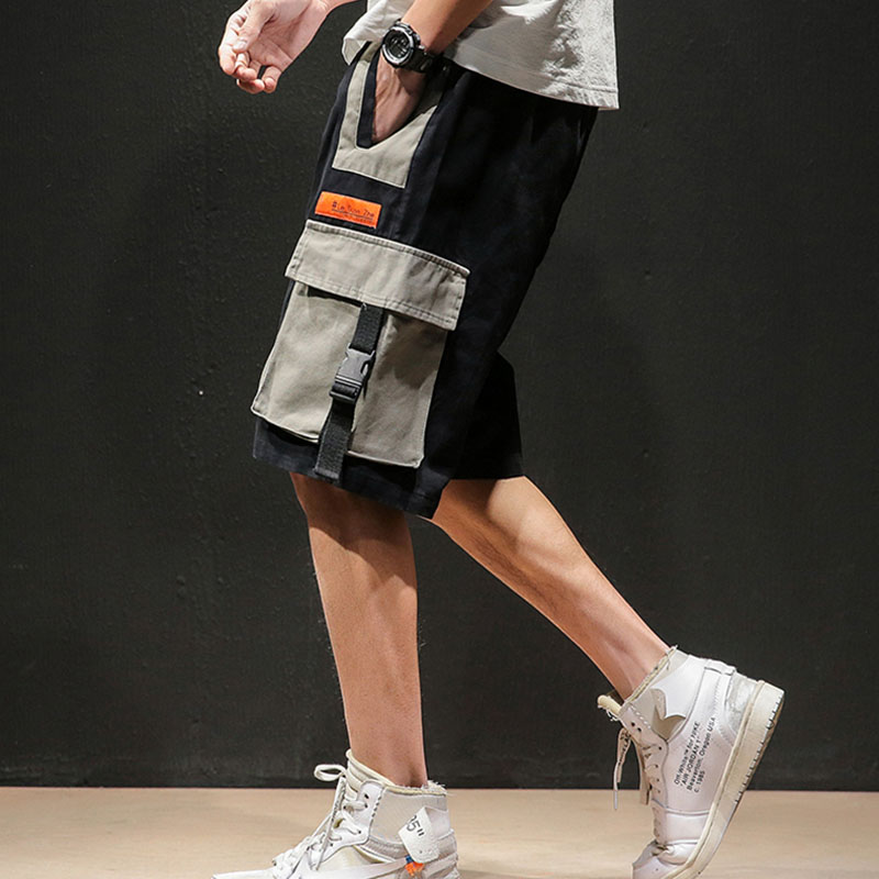 Men shorts safari style 2019 new summer cotton loose male casual shorts knee length pocket Japanese style 4XL 5XL S05 in Casual Shorts from Men 39 s Clothing