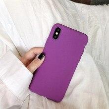 Matte Purple Solid Color Cover Phone Cases For Huawei P30 P20 Pro Lite Nova 5 5i 4 4e 3 3i Honor 8X 10 20 V20 Soft Capa