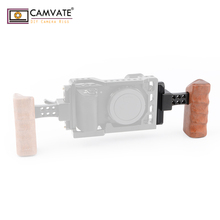 CAMVATE كاميرا خشبية اليسار مقبض قبضة مع سوات السكك الحديدية المشبك و سريعة الإصدار الناتو السلامة السكك الحديدية (70 مللي متر) مصممة ل DV فيديو قفص تزوير