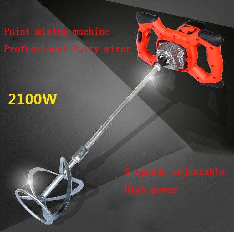 2100W High power Electric mixer Industrial mixing drill Paint putty cement mixer d698 paint putty powder chemical lux mixer 220v 1000w industry speed adjustable blender