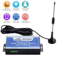 KKmoon Temperature Humidity Power Status Monitoring Support Android APP Control 850/900/1800/1900MHz GSM SMS Alarm System