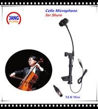 Profesional Micrófono de Condensador Instrumento Musical de Violonchelo Lapela Mikrofon Micrófono para Sistema Inalámbrico Shure Mini XLR de $ number pines
