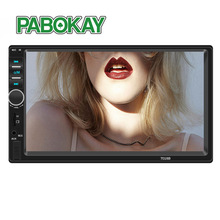7018B Double 2 Din Car Video Player 7 inch Touch Screen Multimedia player MP5 Player USB FM Bluetooth With Rear View Camera vehemo hd 1080p 2din mp5 player multimedia player with rear camera premium quality fm aux car kit video player