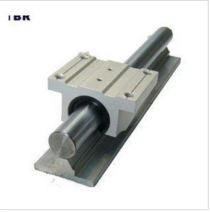 Supported round Rail 4pcs TBR25 -L1600mm  + linear slide bearing with pillow  4pcs TBR25UU