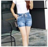 Women Fashion Style High Waist Denim Shorts Stretch Casual Basic Jeans Shorts High Quality Short Pants