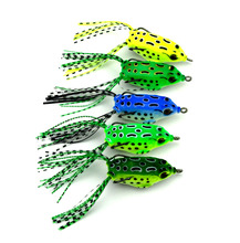 20pcs soft plastic fishing lures frog lure with treble hooks top water ray 5CM 8G artificial fish tackle